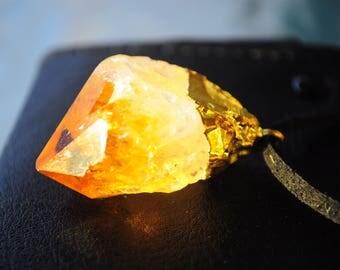 Citrine Healing Stone Handmade Necklace