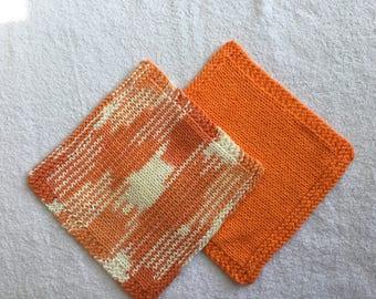 Pair of cotton wash cloths
