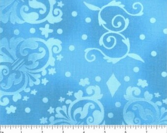 "108"" Quilt Backing Blue on Blue"