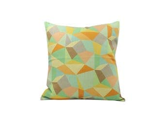 Geometric decorative pillow cover Seamless throw pillow covers Linen pillow cases Rustic cushion cover Sofa accent pillows Home decor 18x18