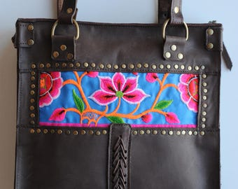 Leather Briefcase / / wristlet / / hand-made portfolio / / leather design portfolio / / unique portfolio / / Original portfolio / / portfolio Boho