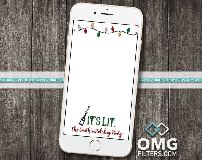 Holiday Party 2 - Custom Snapchat Geofilter - Christmas Party Any Wording!