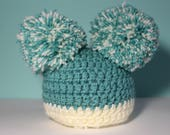 Crochet Baby hat - Baby boy - Baby shower gift - newborn hat - Blue - new baby gift - Baby clothes - Baby hats - baby accessories