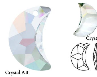 Swarovski Crystal 6722 Moon Pendant 20mm Pick You Colour