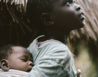 Uganda Village Print