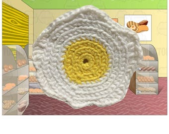 Egg Crochet Coasters