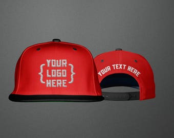 2 Tone Custom Embroidered Snapback Cap Hat