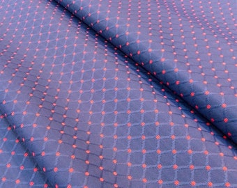 Jacquard fabric Wagner - Argyle fabric - blue and pink fabric - upholstery fabric - fabric seats and chairs - Nadège fabrics - 1/2 meter