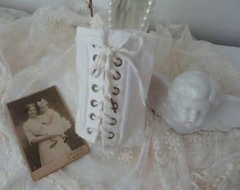 Antique dolls corset Edwardian style Victorian style underwear 19.Jahrhundert underwear vintage doll corset bodice white