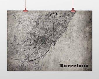 Barcelona din a4/DIN A3-print-old-school