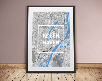 Copenhagen-framed City-digital printing