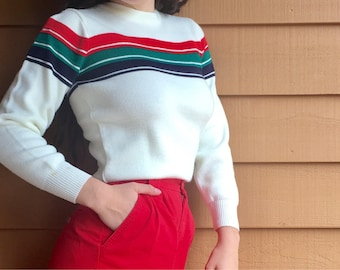 Women's Vintage Ski Sweater
