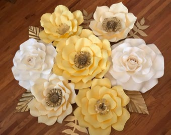 7pcs Paper Flower set for Nursery, Weeding, Birthday, baby shower and many other occasions