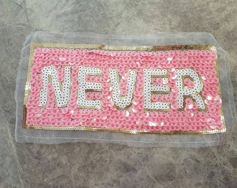 NEVER Sew on applique