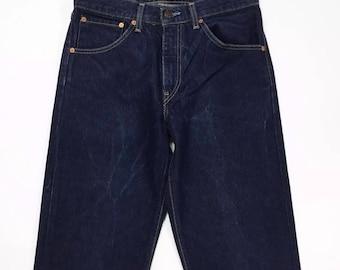 Levis 521 W31 L34 Tg(IT)44/46 jeans vintage blu dritto levi's boyfriend usati T1078