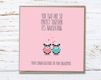 Engagement card // funny engagement // congratulations // Greeting card // pun card