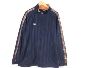 Vintage Fila Zip Up Jacket Xl Size / Fila Hoodie / Fila Big Logo / Fila Jacket / Fila Pullover / Casuals Wear / Vintage Casuals