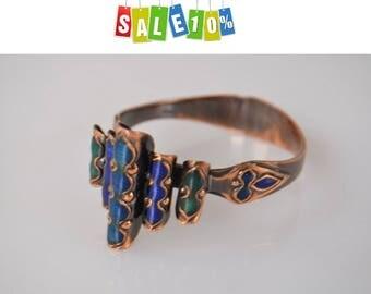 """Rare vintage copper bracelet 1950s """"Unique"""""""