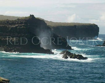 Landscape Photography- Nature Photography- Prints- Galapagos Islands- Fine Art- Photography- Landscape Photo- Ocean Coast- Ocean Photography