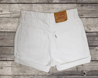 SALE - White High Waisted Shorts