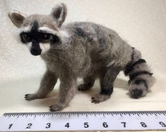 Raccoon - Needle Felted and Posable