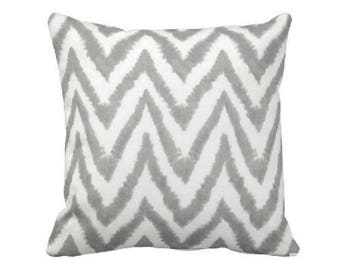 Grey and White Chevron Throw Pillow - Gray and White Chevron Pillowcase - Grey and White Chevron Pillow - Grey and White Chevron Pillow Sham