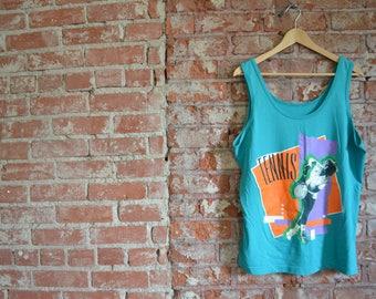 Vintage 90s Tennis Sun Sportswear Tank Top