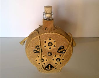 Leather Covered Liquor Decanter