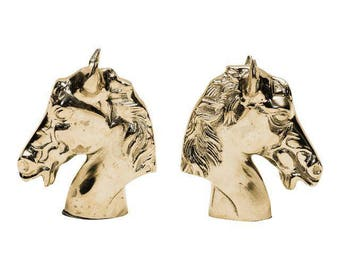 Silver Horse Bookends- A Pair