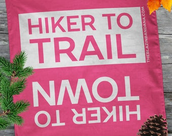 Hiker Bandana - Pink - For Thru Hiking AT (Appalachian Trail), PCT, CDT Lightweight Outdoor Hiker to Town Hiker to Trail Bandanna