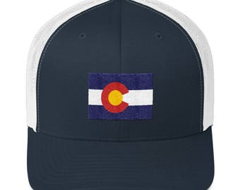 Colorado Trucker Cap - Colorado Trucker Hat - Colorado Hat - Colorado Cap - Colorado - Colorado Flag Hat - Colorado Flag - Colorado Flag