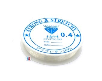 1 roll of 10 meters of wire Crystal strech, 0.4 mm - wire jewelry nylon 10 meters