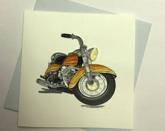 Motorcycle Quilling Greeting Card