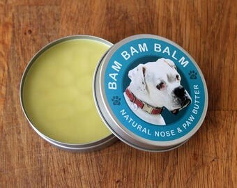 Bam Bam Balm - 4 oz - All Natural Paw and Nose Butter for Dogs - 100% Organic and Vegan