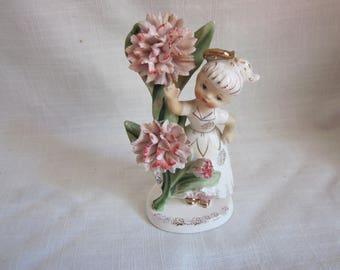 Lefton Birthday Angel Figurine May 1950's Geo Z Lefton 985