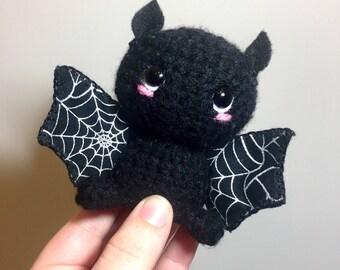 Amigurumi spider web bat plush