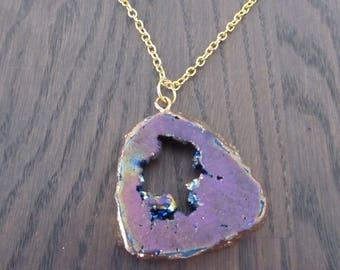 Necklace Druzy Crystal