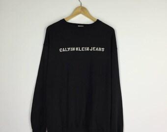 Calvin Klein Sweatshirt big spellout logo sweatshirt / CK Jeans / CK Vintage