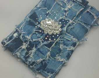 Oversize Custom Denim Clutch