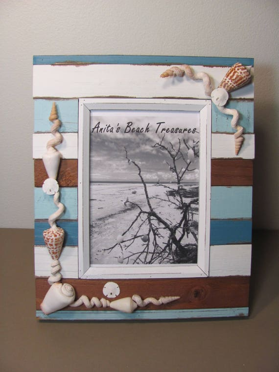 Shell Picture Frame/Beach Picture Frame/Sea Shell Frame/Seashell Photo Frame/Coastal Frame/Nautical Frame/Shell Photo Frame