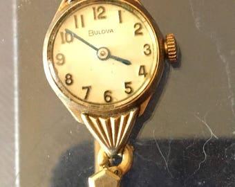 1950's Ladies Bulova wrist watch. 10k RGP Bezel. X243860. To my knowledge watch is inoperable.