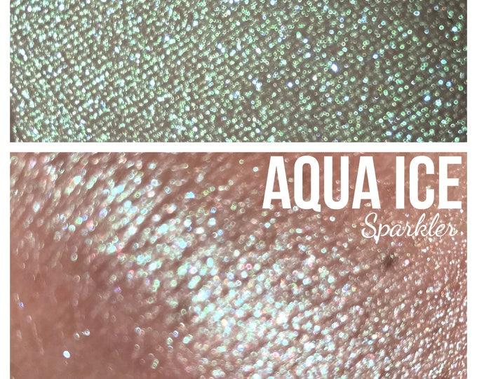 AQUA ICE - Sparkler - Iridescent turquoise with aqua sparkles - highlighter / eyeshadow/ body glitter