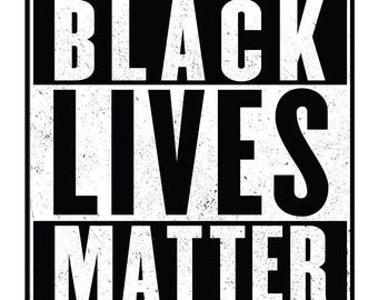 Black Lives Matter Sticker - 4 Inch - Support Equality & Human Rights