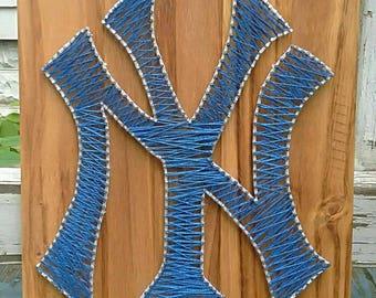 NY Yankees nail string art sign