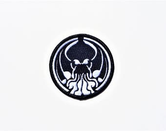 Cthulhu, Azathoth,Nyarlathotep, H.P. Lovecraft, Monster, Evil Mythological, Horror Cult, Necronomicon Embroidered Motorcycle Patch.