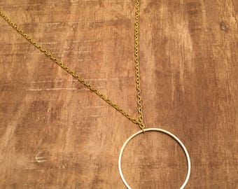 Circle Long Layering Necklace
