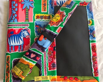 Roll up Chalk Mat, jungle animals chalkmat, rollup chalkmat, roll up chalk mat, blackboard mat, travel toy