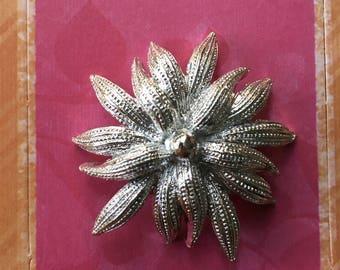 Silver Flower Brooch by Gerry's