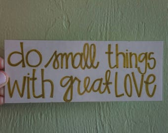 Do Small Things Bookmark
