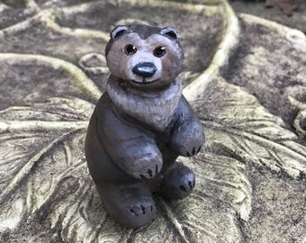 Sitting Bear Figurine